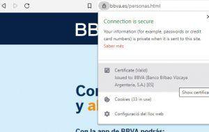 Certificado válido de una web